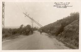 63Hj   84 Beaumont De Pertuis Photo Accident Pylone électrique Centrale Couché Par Une Automobile Tacot En 1932 - France