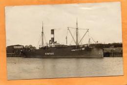 Wismar Rimfaxe Ship In Harbour Germany 1910 Real Photo Postcard - Wismar