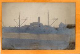 Wismar Rimfaxe Ship In Harbour Germany 1911 Real Photo Postcard - Wismar