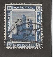 Perfin Perforé Firmenlochung Egypt SG 91 CL A Crédit Lyonnais  Alexandrie - Égypte