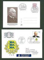 J Estonia B16 Postcard SC FDC 1999/2003 Presidents K Pats A Ruutel - Estonie