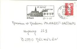 France 1997 Evran Côtes-d'Armor >> Mechelen B / St Juvat Village Fleurie - Végétaux