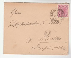1891 Maximilianstrasse AUSTRIA Stamps COVER To Berlin Germany - 1850-1918 Empire