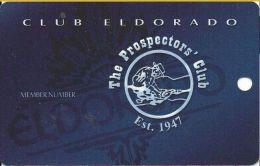 Eldorado Casino Reno NV - The Prospectors' Club Card - Casino Cards