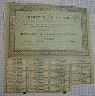 Casinos De Royan, Ss à Royan, Action De 250 Frs - Casino