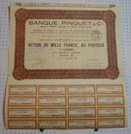Banque Pinquet Et Cie, Banques Pinquet Angouleme Et Petit Confolens Réunies - Banque & Assurance