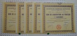 5 Titres, Sté Des Immeubles De France - Banque & Assurance
