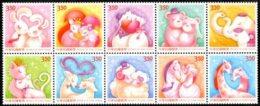 NT$3.50 2015 Greeting Stamps-Best Wishes Rabbit Squirrel Dog Bear Elephant Cats Deer Sheep Zebra Giraffe - Cultures