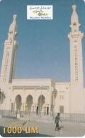 MAURITANIA - Mosque, Mauritel Recharge Card 1000 UM, Used - Mauritania