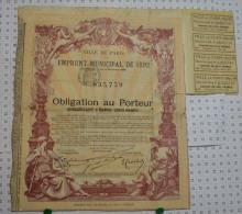 Ville De Paris, Emprunt De 1892 - Banque & Assurance
