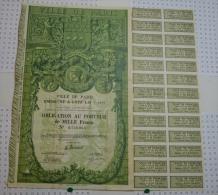 Ville De Paris, Emprunt De 1929 - Banque & Assurance