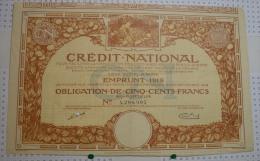 Credit National, Emprunt De 1919 - Banque & Assurance