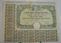 Credit National, Emprunt De 1920 - Banque & Assurance