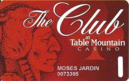 Table Mountain Casino Friant, CA - Slot Card - Reverse Logo Toward Left - Casino Cards