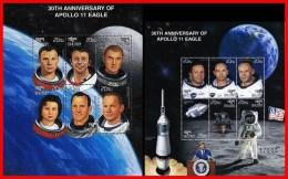 BHUTAN 1999 APOLLO SPACE PROGRAM = 30 ANNIVERSARY X2 M/S GAGARIN MNH ** FREE POSTAGE Is POSSIBLE - Bhután