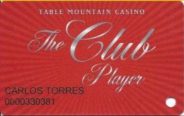 Table Mountain Casino Friant, CA - Slot Card - Copyright 2010 - Casino Cards