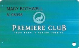 Tachi Palace Casino Lemoore, CA Slot Card - Premiere Club Tachi Hotel & Casino Rewards - Casino Cards