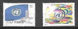 1989 United Nations, Set Of 2, Mint Never Hinged - 1949 - ... République Populaire