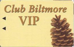Tahoe Biltmore Casino - Crystal Bay, NV - BLANK Slot Card With Black Insert Arrows - Casino Cards