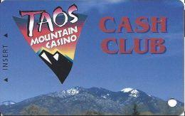 Taos Mountain Casino Taos, NM - BLANK Slot Card - PO Box 706 Veterans Hwy Address - Casino Cards