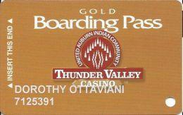Thunder Valley Casino Lincoln CA - Slot Card @2004 - Casino Cards
