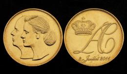 Médaille MONACO. Mariage Albert II - Charlène Wittstock. 2 Juillet 2011. UNC - Royal / Of Nobility