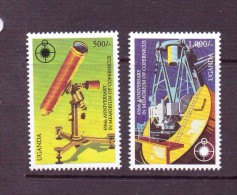 OUGANDA-UGANDA  1992 COPERNIC  YVERT N°1056/57  NEUF MNH** - Space