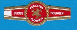1 BAGUE DE CIGARE FISCHER FLORETT SUISSE TRIENGEN - Cigar Bands