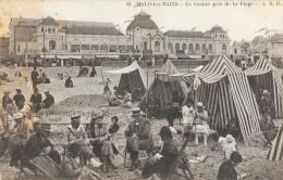 Malo-les-Bains - Le Casino Pris De La Plage - Belle Animation: Tentes - Carte L.S.D. N°81 - Malo Les Bains