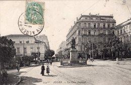 V2246 Cpa Alger - La Place Bugeaud - Algerien