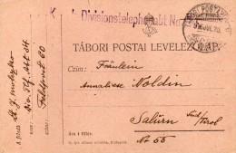 1916 CARTOLINA   CON ANNULLO FELDPOST - Dokumente