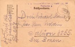 1918 CARTOLINA   CON ANNULLO FELDPOST - Documents