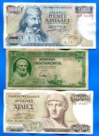 Grèce  9  Billets - Greece