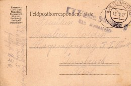 1917  CARTOLINA   CON ANNULLO FELDPOST - Documents