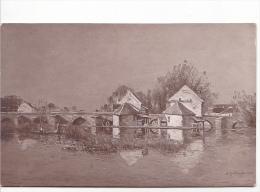 25718 Salon De 1914 -Moulin De Moret. Antoine Guillemet 7649dt ND - - Peintures & Tableaux