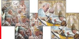 Burundi BL 0351/52** Pape Jean Paul II - MNH - 4 Blocs: Full Set  !