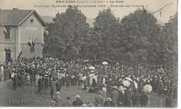 54 FAVIERES La Gare Concours Agricole De Septembre 1906 Arrivée Du Comice  CPA 1909 - Gares - Sans Trains
