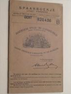 SPAARBOEKJE - LIVRET D´EPARGNE ( Gent - 820.436 B ) Seconde Berth.. ( Zie Foto´s ) Jaren 19?? ! - België