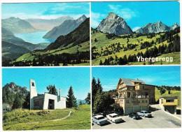 Ybergeregg: 2x MERCEDES HECKFLOSSE, RENAULT 10 , SIMCA 1301 - Hotel Passhöhe Mit Mareinkapelle - (CH) - Toerisme