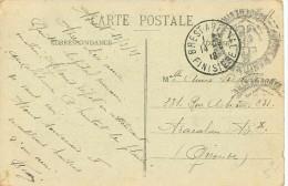 Cachet BREST ARSENAL 1918 Et Hôpital Maritime Brest Vaguemestre Sur Cpa BREST RECOUVRANCE Vue Générale - Marcofilie (Brieven)