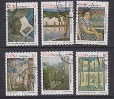 Cuba 1979 Paintings 6v Used (SB106P) - Cuba