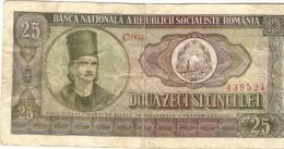 Billet - ROUMANIE - 25 Lei - Série C004 - Romania - Roumanie