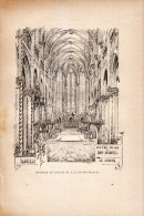 1890 - Gravure Sur Bois - Rouen (Seine-Maritime) - Intérieur De L'église Notre-Dame De Bon Secours - FRANCO DE PORT - Estampes & Gravures