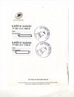 Recepisse Lettre Suivie Cachet Poste 43227A - Documents Of Postal Services