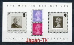 GROßBRITANIEN Mi.Nr. Block 37 40 Jahre Freimarkenausgabe Typ Machin - MNH - Blokken & Velletjes