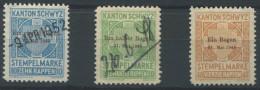 1152 - SCHWYZ Fiskalmarken - Fiscaux
