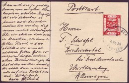 Israel Palestine Jerusalem Postcard Send To Germany Wirh British Mandat EEF 4m Stamp 1920  C - Palestine