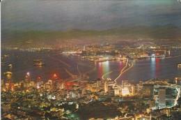 ASIE----CHINE--HONG KONG---night Scene From Peak---voir 2 Scans - China (Hongkong)