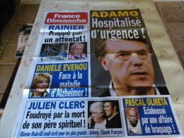 AFFICHE FRANCE DIMANCHE ADAMO REGARDEZ MES VENTES ! J´EN AI D´AUTRES - Magazines: Abonnements