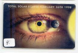 Niederlandische Antillen (Neérlandaises) Antilles * NEDERLANDSE ANTILLEN (4) Télécarte Solar ECLIPSE FEBR 26 - 1998 - Antilles (Netherlands)